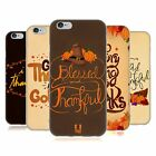 HEAD CASE DESIGNS THANKSGIVING TYPOGRAPHY SOFT GEL CASE FOR APPLE iPHONE PHONES