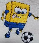 Personalised Flannel, Face Cloth, Wash Cloth embroidered Sponge Bob & Football