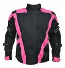 New Womens Black & Pink Turin Waterproof & Armoured Motorbike Jacket