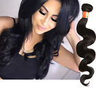 "Real Human Hair Extensions 10""-30"" Body Wave Unprocessed Black Virgin Hair Weft"