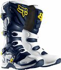 NEW FOX RACING COMP 5 SE MX DIRTBIKE MOTOCROSS BOOTS WHITE/YELLOW ALL SIZES