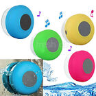 Waterproof Mini Wireless Bluetooth Handsfree Suction Speaker Shower Mic Car NEW
