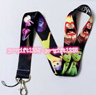 Lot Disney black Inside Out Neck Strap Lanyards Mobile Phone Key Chain Gifts