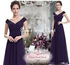 LORI Aubergine Purple Beaded Embellished Prom Evening Party Ballgown Dress 6-18