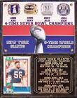 New York Giants 4-Time Super Bowl Champions Plaque Rings of Honor