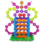 100/200/300x Kids Baby Snowflake Creative Building Blocks Educational Puzzle Toy