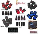 DOG BOOTS Ultra Paws All Boots Weather Repellent Durable Rugged Traction Socks