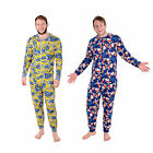 Mens Character Sleepsuit Pyjamas All In One Minions / Disney 100% Grumpy