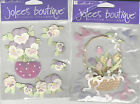 U CHOOSE  Jolee's PANSIES SPRING FLOWERS 3D Stickers easter