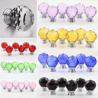 10PCS Clear Crystal Glass Cupboard Handles Diamond Door Knobs Drawer Pull handle