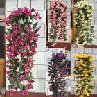 1 Bunches Artificial Lily Flowers Vine Garland Home Garden Hanging Decor Fashion