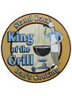King Of The Grill Tin Sign 30x30cm