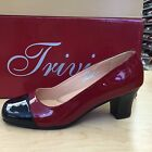 Trivica Women's 348 Red Black Patent Leather Pumps