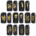 HEAD CASE DESIGNS GRAND AS GOLD BLACK CHROME GLITTER CASE FOR BLACKBERRY PHONES