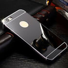 For Apple iPhone 7 7 Plus,Luxury Metal Bumper Ultra-thin Mirror Back Case Cover