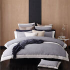 Essex Navy Super King Size Quilt / Doona Cover Set 3 or 6 Pce Sets Logan Mason