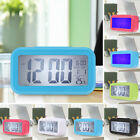 LED Digital Clock Calendar Alarm Temperature Thermometer Home Office Desk Travel