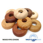 Solid Wood Radiator Pipe Cover Pipe Rose. For 15mm Pipes, 10 Colour Finishes!