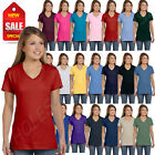 NEW Hanes Women's 4.5 oz 100% Cotton Short Sleeve nano-T V-Neck T-Shirt M-S04V