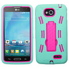 For LG Optimus L90 D415 Hybrid Impact Hard Protective Rubber Silicone Case Cover