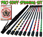 Flames N Games 100cm Pro Spiral Deco Practice Staff Set - Fire/Contact Staff
