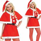 Ladies Christmas Cutie Miss Santa Helper Sexy Fancy Dress Costume Xmas Outfit