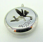 Stainless Steel Tinker Bell Fairy Aromatherapy Diffuser Locket Pendant Necklace