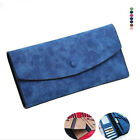 Fashion Women Wallet Solid Frosted Leather With Card Long Style Portable Wallets