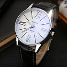 Stainless Steel Men Military Sport Leather Dial Analog Quartz Luxury Wrist Watch