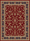 Red Scrolls Vines Oriental Area Rug Oriental Leaves Bordered Persian Carpet