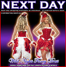***SALE*** Chirstmas Fancy Dress # Sexy Ladies Burlesque Costume Santa Baby 8-14