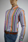 Ralph Lauren Classic Fit Multi-Colored Stripe Long Sleeve Shirt/Blue Pony-NWT