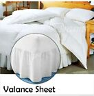 LUXURY PLAIN DYED PLEATED POLY COTTON VALANCE SHEETS ALL SIZES