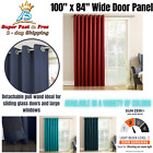 """Unusually Wide Window Curtain Panel 100""""x84"""" Patio Grommet Curtains For Living Room"""