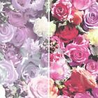 NEW MURIVA ROSES PATTERN PHOTOGRAPHIC FLOWER FLORAL MOTIF VINYL MURAL WALLPAPER