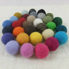 20mm (2cm) Plain 100% Wool Felt Balls Handmade