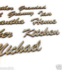 MDF Wooden Script / Cursive Words & Names Various Sizes