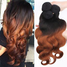 4 Bundles Brazilian Virgin Body wave Remy Human Hair Extesions 200g #1B/30 4pcs