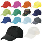 Baseball Cap Adjustable Classic 100% Cotton Summer Sun 5 Panel Mens Ladies Hat
