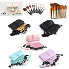 32/10Pcs Professional Cosmetic Eyebrow Shadow Makeup Brushes Set Kit MultiColor
