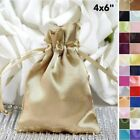 "180 pcs 4"" x 6"" SATIN FAVOR Drawstring BAGS - Gift Pouches Packaging Cheap"