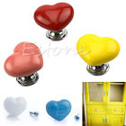 Heart Shape Ceramic Door Knobs Cabinet Drawer Cupboard Furniture Handle Decor