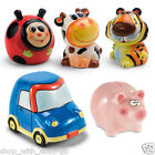 Ceramic Cash Savings Piggy Bank Money Box Kids Home Gift Tiger Car Lady Bird Cow