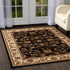 Rugs Area Rugs Carpet Flooring Persian Area Rug Brown Bordered Oriental Carpet