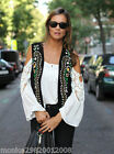 ZARA BLACK FLORAL EMBROIDERED LEATHER WAISTCOAT SIZE SMALL_MEDIUM