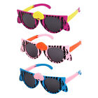 Cartoon Cat Design Plastic Frame Black Lens Foldable Arm Sunglasses for Children