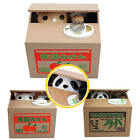 Lovely Automated Panda Cat Itazura Kitty Cat Steal Coin Piggy Bank Savings Box