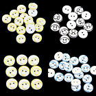 100 Pcs Moon Sun Printing Assorted Resin Kid's Buttons Sewing Scrapbooking Craft