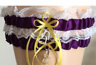 Wedding Garter Bridal Garter Sets Plum/Purple and White Lace Prom Garter - LotAP