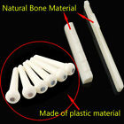 6 Acoustic Guitar Bridge End Pins +1 Keychain Puller set Ivory White / Black